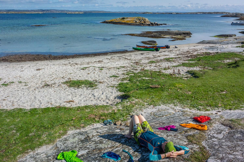 Vallerö - fina stränder för bad och paus samt gott om tältplatser