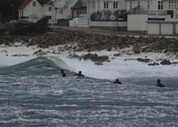 Mölle hamn räknas som ett av sydsveriges bästa surfspots bland surfarna