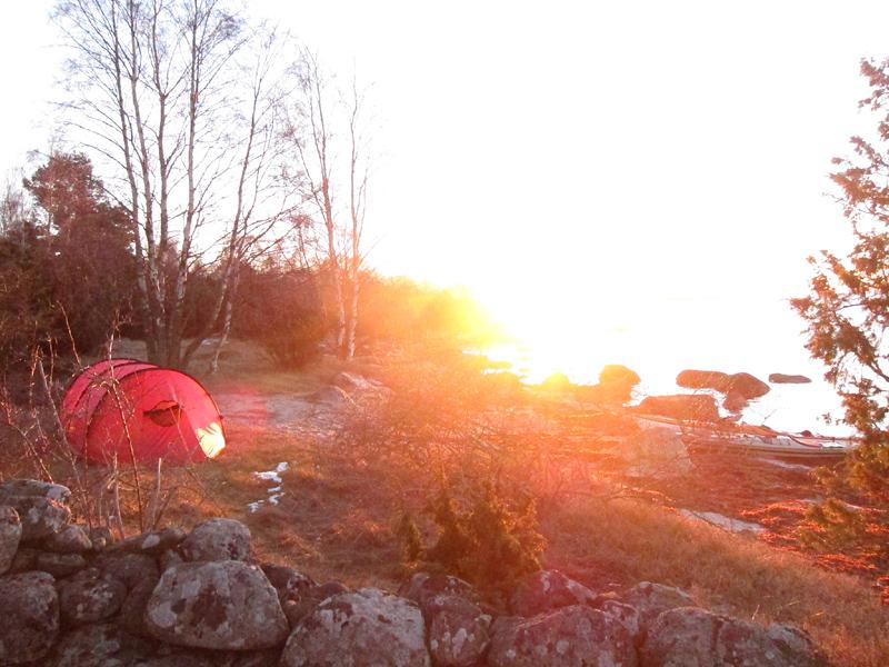 Soluppgång på sydsidan. Mars 2013.