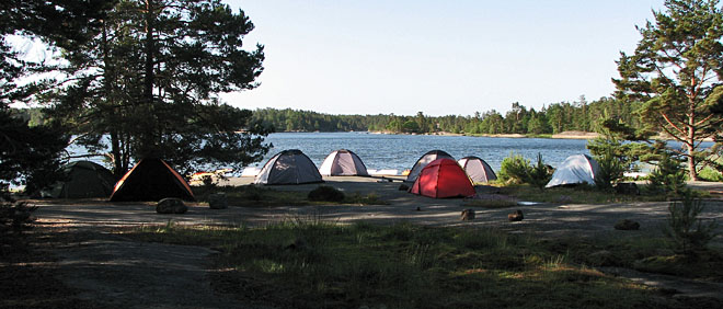 Gott om plats till många tält