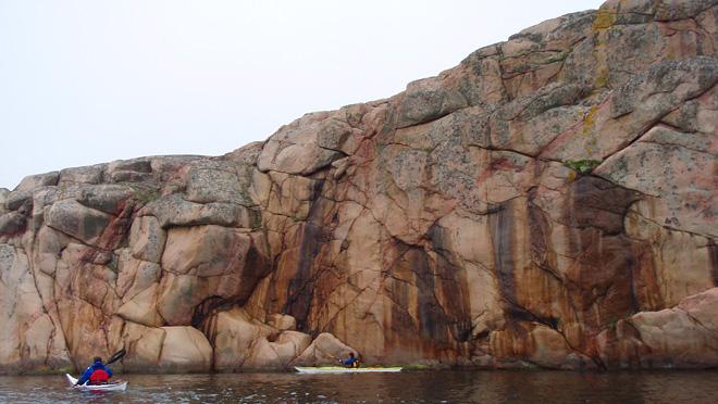 Koola klippor på sydsidan