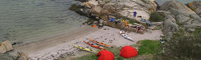 Fin sand, fina klippor och plats till skapligt med tält