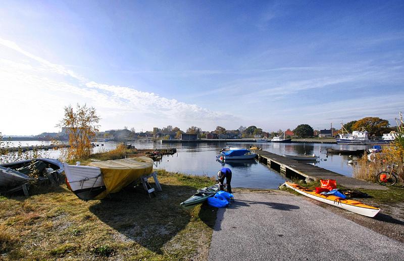 Båtslipen i Garpahamnen på Hasslö