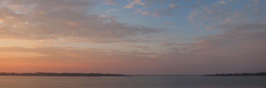Solnedgång på Flakskär