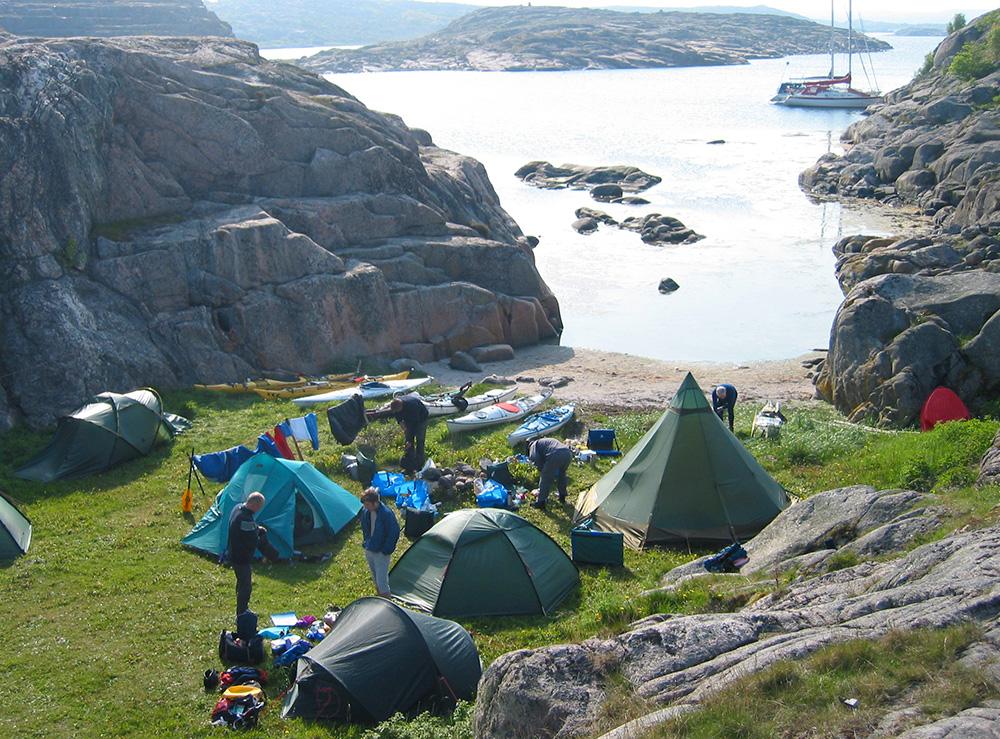 Får plats med ganska många tält
