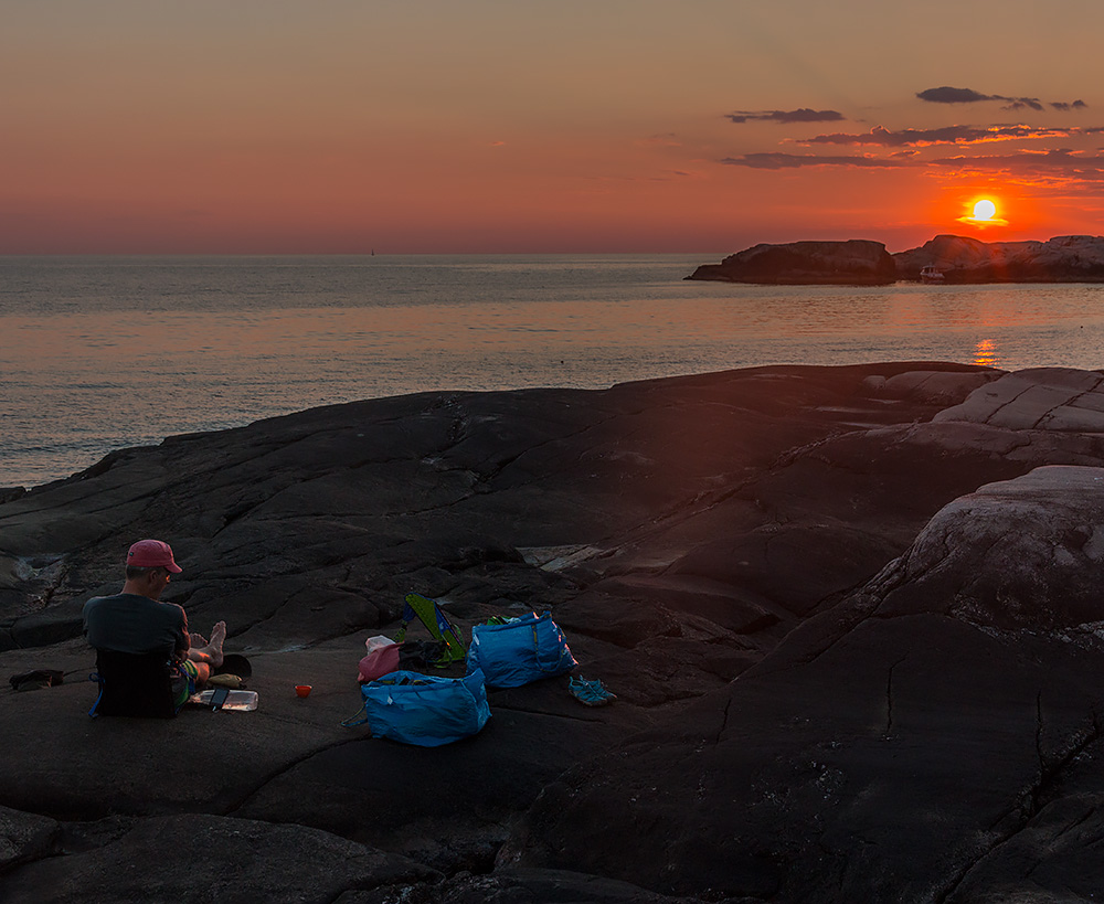 Solnedgång över Lilla Kännskär