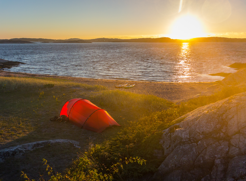 Go morgon och vy in mot fastlandet