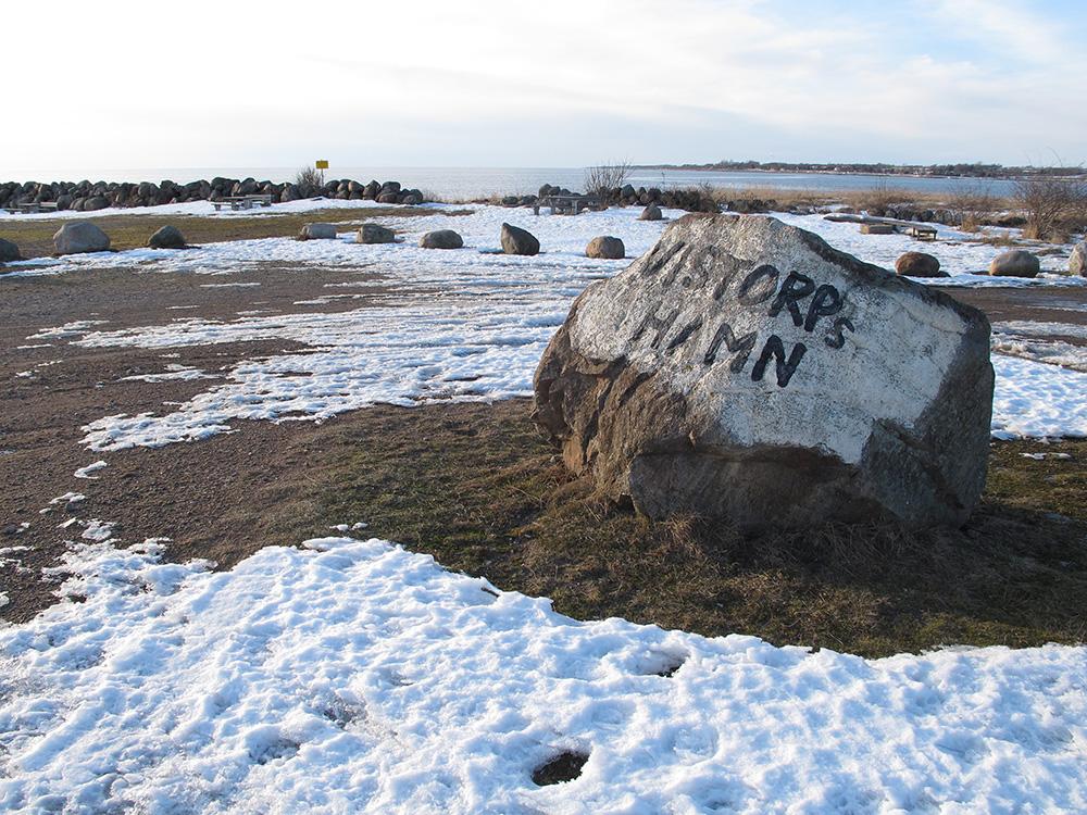 Vinteri Vistorps hamn, lugnt och stilla